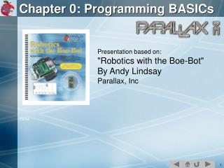 Chapter 0: Programming BASICs