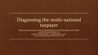 Diagnosing the multi-national taxpayer
