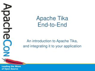 Apache Tika End-to-End