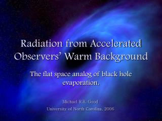 Radiation from Accelerated Observers  Warm Background