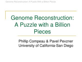 Genome Reconstruction: A Puzzle with a Billion Pieces