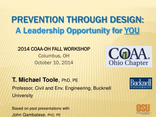 2014 COAA-OH FALL WORKSHOP Columbus ,  OH October 10 ,  2014
