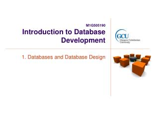 M1G505190 Introduction to Database Development
