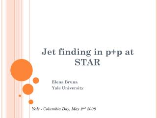 Jet finding in p+p at STAR