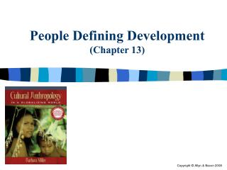 People Defining Development (Chapter 13)