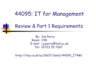 44095: IT for Management