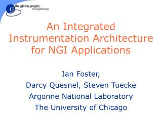 An Integrated Instrumentation Architecture for NGI Applications