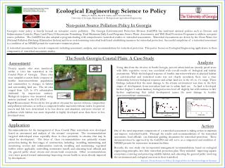 Ecological Engineering: Science to Policy