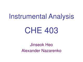 Instrumental Analysis