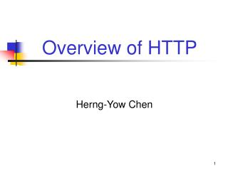 Overview of HTTP