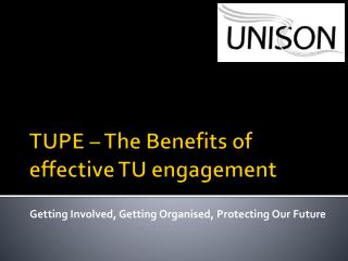TUPE – The Benefits of effective TU engagement