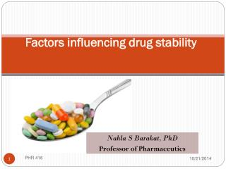 Factors influencing drug stability