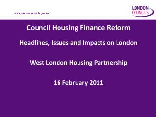 Council Housing Finance Reform