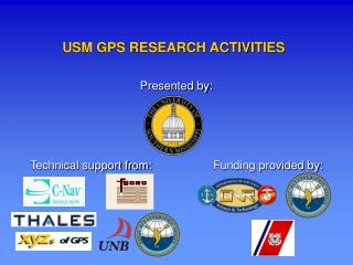 USM GPS RESEARCH ACTIVITIES