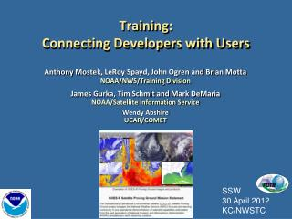 Training:   Connecting Developers with Users