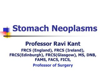 Stomach Neoplasms