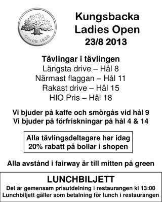 Kungsbacka  Ladies Open