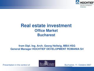 Real estate investment Office Market Bucharest