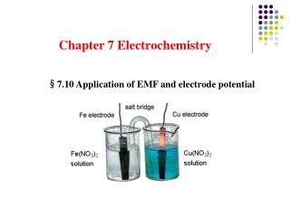 Chapter 7 Electrochemistry