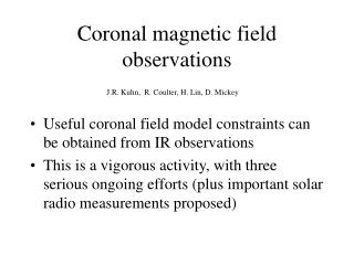Coronal magnetic field observations