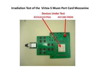Irradiation Test of the  Virtex-5 Muon Port Card Mezzanine