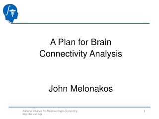 A Plan for Brain Connectivity Analysis John Melonakos