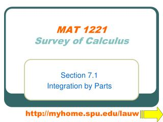 MAT 1221 Survey of Calculus