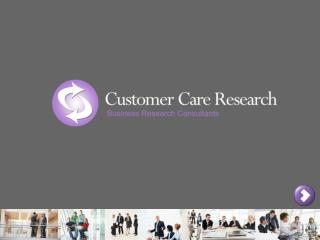 Independent Customer Focused Research & Communications B2B & Consumer