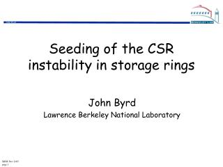 Seeding of the CSR instability in storage rings