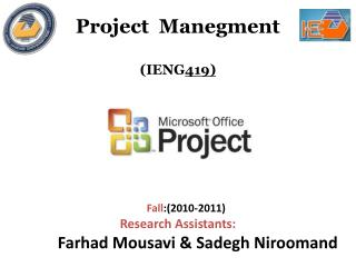 Project  Manegment ( IENG 419)