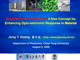 Architectural Photonics: A New Concept for Enhancing Opto-electronic Response in Material