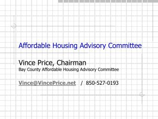 Affordable Housing Advisory Committee