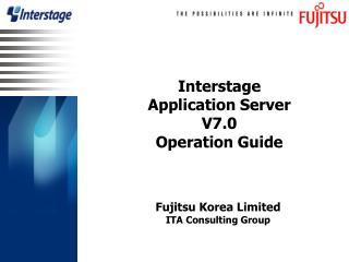 Interstage  Application Server  V7.0 Operation Guide