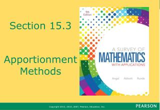 Section 15.3 Apportionment Methods