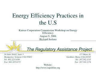 Energy Efficiency Practices in the U.S