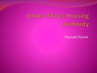 United States Housing Authority