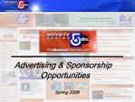 Advertising  Sponsorships