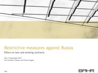 Restrictive measures against Russia