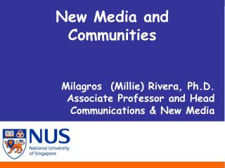 New Media and Communities