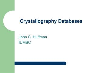 Crystallography Databases