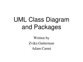 UML Class Diagram and Packages