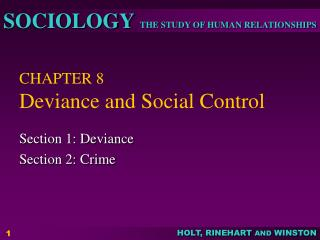 CHAPTER 8 Deviance and Social Control