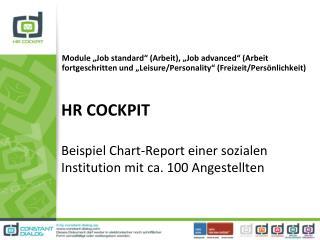 HR COCKPIT Beispiel Chart-Report einer sozialen Institution mit ca. 100 Angestellten