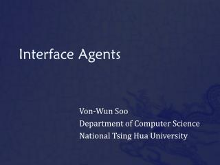 Interface Agents