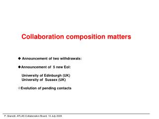Collaboration composition matters