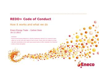 REDD+ Code of Conduct