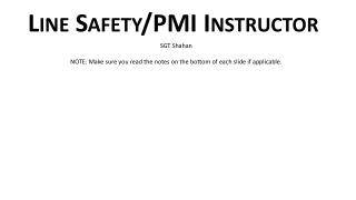 Line Safety/PMI Instructor