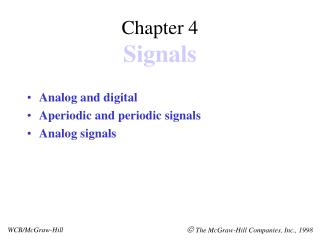 Chapter 4 Signals