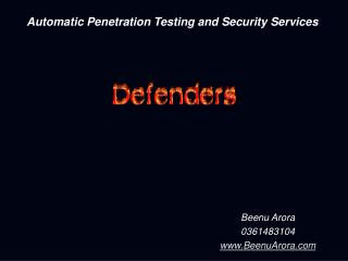 Automatic Penetration Testing and Security Services
