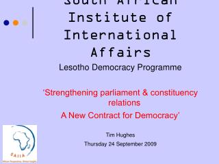 South African Institute of International Affairs